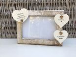 Shabby personalised Chic Photo Frame In Memory Of A Daughter Or Any Name Friend